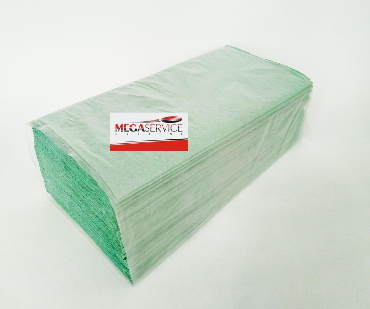 Полотенца  бумажные V ( зеленые) 160 шт.