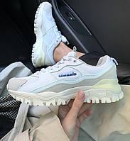 Женские кроссовки Umbro Bumpy White. Живое фото (Реплика ААА+)