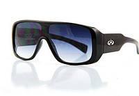 Мужские спортивные очки закрытого типа, массивная оправа черного цвета, градиентные линзы