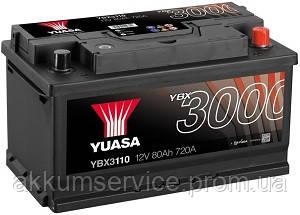 Аккумулятор автомобильный Yuasa SMF 80AH R+ 720А YBX3110