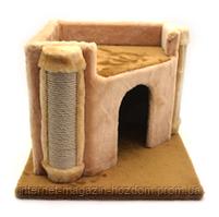 Домик драпак из меха для кошек Вежа