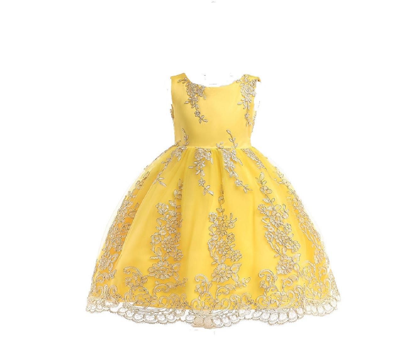 7b4f9e9fd8f Детское Нарядное Платье Желтое на 5-6 Лет — в Категории
