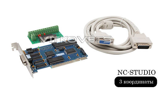 Система управления NC-Studio плата, PCI-контроллер на 3 координаты, фото 2