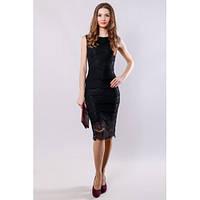 dc48a122665 Promo Платье женское кружевное облегающее черное BFS1791-Black