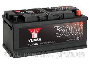 Аккумулятор автомобильный Yuasa SMF 90AH R+ 740А YBX3017