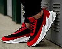 Мужские кроссовки Adidas Shark Red/Black/White. Живое фото. Реплика