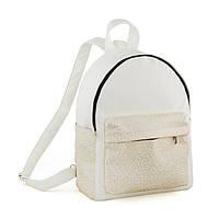Рюкзак KotiСo Fancy 33х25х12 см білий флай з золотим візерунком, фото 1