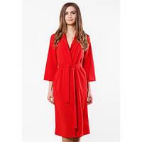 Платье-халат женское красное