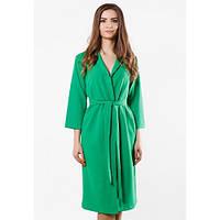 Платье-халат женское зеленое