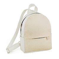 Рюкзак KotiСo Fancy-mini 28х22х9 см білий флай з золотим візерунком, фото 1