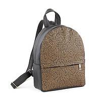 Рюкзак KotiСo Fancy-mini 28х22х9 см черный флай с золотым узором, фото 1