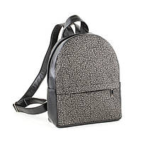 Рюкзак KotiСo Fancy-mini 28х22х9 см черный титан с серебряным узором, фото 1