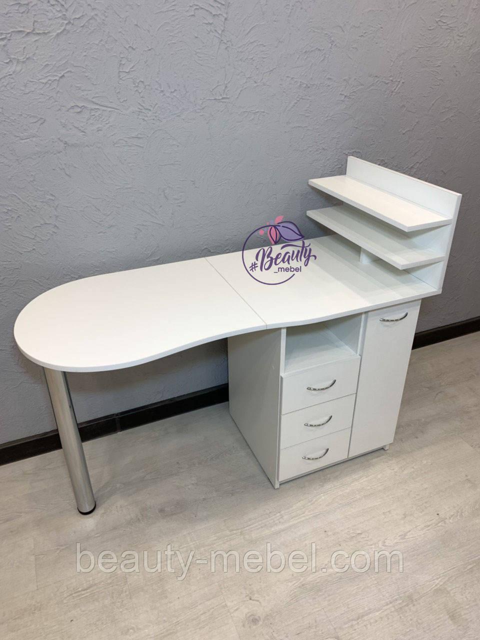 Маникюрный столик с полочкой для лакови ящиком Карго