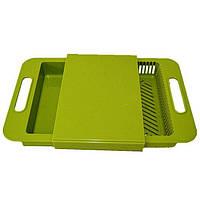 Дошка обробна пластикова, колір – Салатовий, кухонна дошка для нарізки