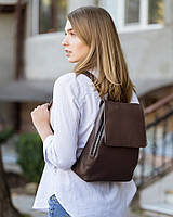 Рюкзак з клапаном KotiСo 30х23х10 см коричневий софітель, фото 1