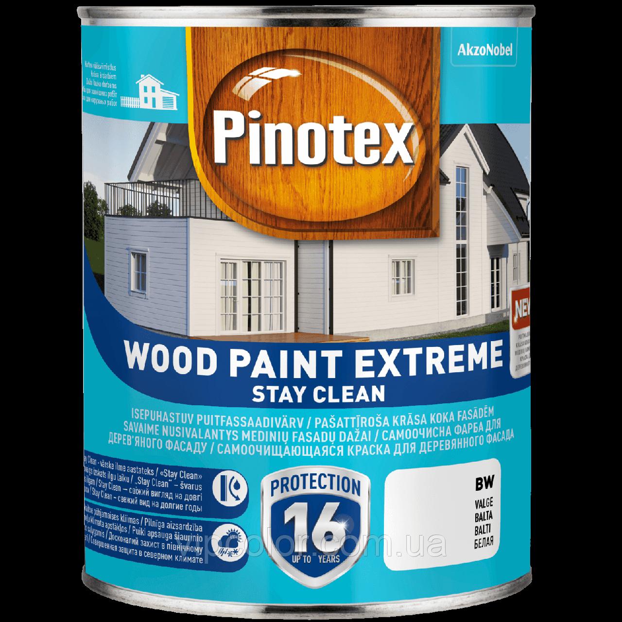 PINOTEX WOOD PAINT EXTREME тонир.база ВС 2,35л самоочищающаяся краска для наружных работ