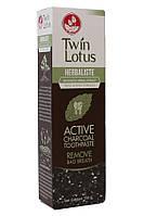 Зубная паста с бамбуковым углём от Твин Лотус.  Twin Lotus active charcoal toothpaste.