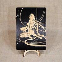 Блокнот формата В6. Скетчбук. Блокнот с деревянной обложкой.  Деревянный блокнот, фото 1