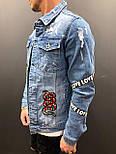 😜Мужской джинсовый пиджак, фото 2