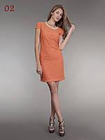 Платье гипюр с колье оранж, фото 1