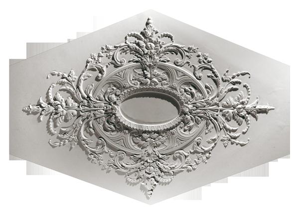 Розетка потолочная из гипса р-107  1440х1030