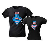 Парные футболки Super Boy\Girl, фото 1