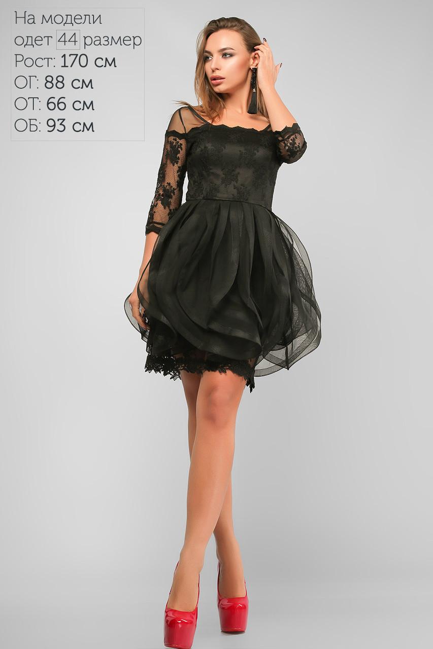 5051ccf94cd Платье вечернее до колена Черное