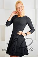 Платье женское нарядное Тёмно-серое