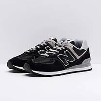 """ОРИГИНАЛ! Кроссовки New Balance 574 """"Черные\Белые"""" ML574EGK, фото 2"""
