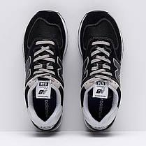 """ОРИГИНАЛ! Кроссовки New Balance 574 """"Черные\Белые"""" ML574EGK, фото 3"""