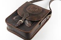 Кожаная сумка-планшет для документов, большая сумка темно-коричневого цвета, формат А4, фото 1