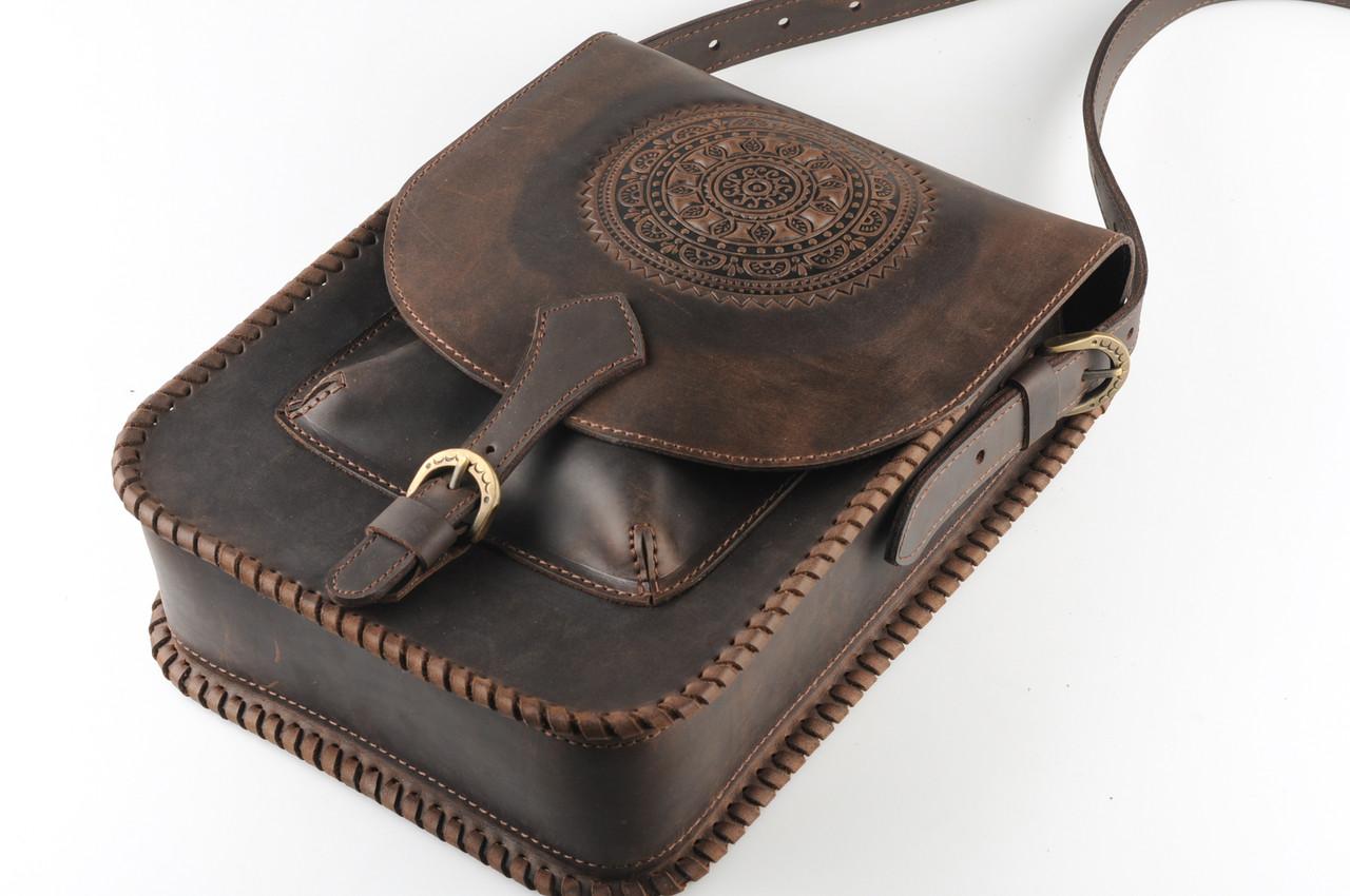 fff7f95f3757 Кожаная сумка-планшет для документов, большая сумка темно-коричневого  цвета, формат А4