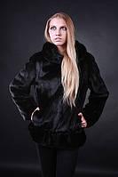 """Норковая шуба полушубок """"автоледи"""" из датской норки с капюшоном Mink fur coat"""