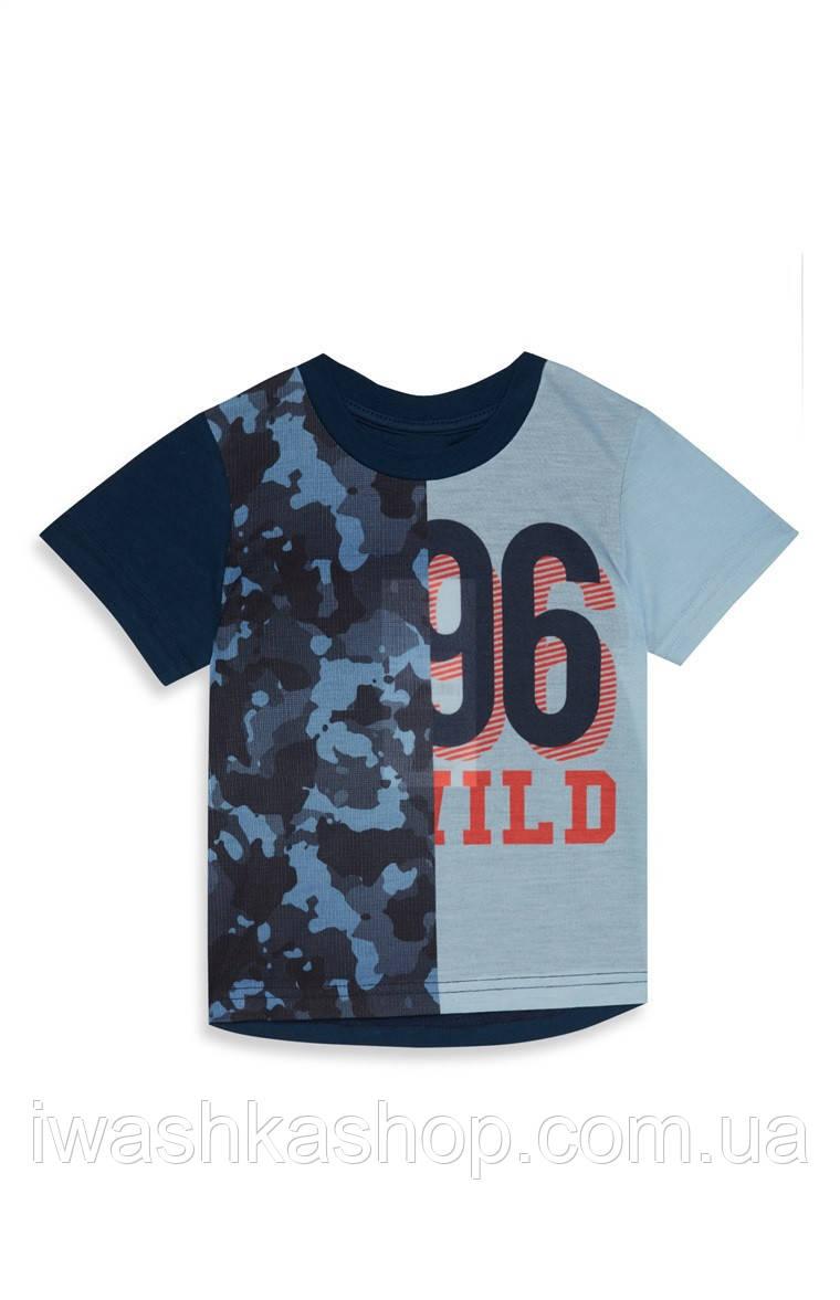 Стильная футболка для мальчика 1 - 1,5 года, р. 86, mini Rebel by Primark