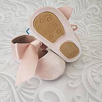 Бархатные нарядные туфли пинетки, фото 1