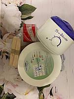 Набор для депиляции - баночный воскоплав pro-wax 100, шпатели 100 шт , баночный воск 400 гр, бумага Tess 1 уп.