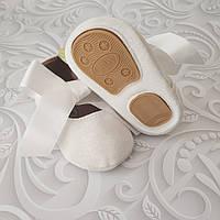 Белые  нарядные туфли пинетки, фото 1
