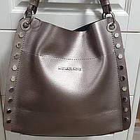 Сумка-мешок Майкл корс женская с заклепками (бронза)