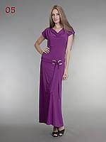 Платье длинное летнее фиолетовое, фото 1