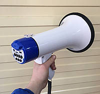 Громкоговоритель ручной с выносным микрофоном UKC ER-55U (25W/USB/Запись голоса), фото 1