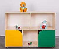 Стеллаж для игрушек с малыми дверьми