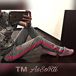 """Спортивні штани """"Adidas"""" c лампасами жіночі"""