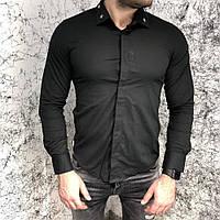 Givenchy Poplin Shirt With Metallic Stars Black