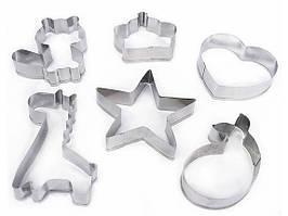 ✅ Форми для печива, набір – 6 шт., металеві, форми для пряників