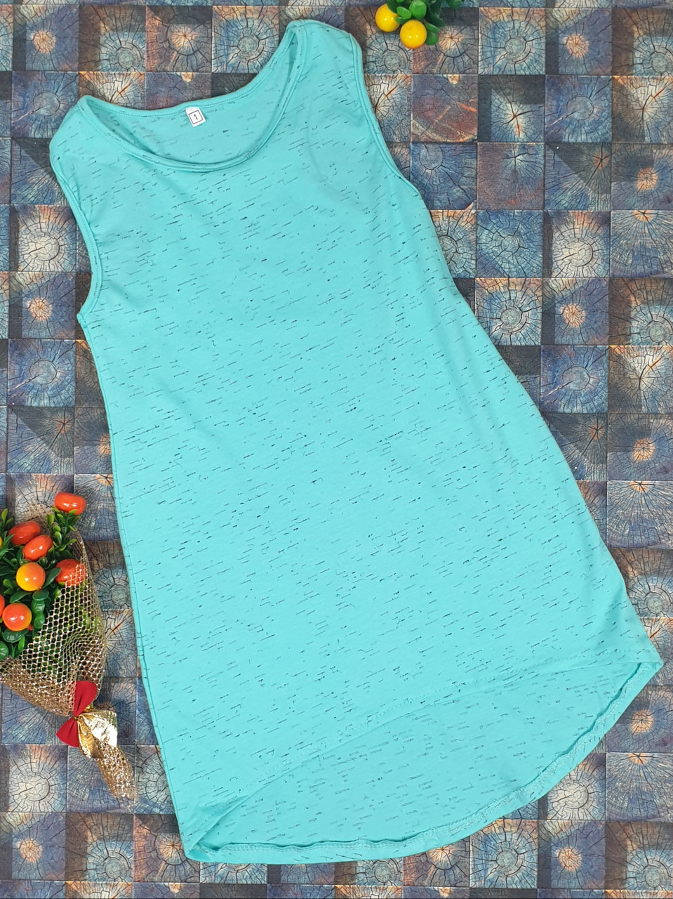 Летний простой сарафан для девочки  р.110-122 мята