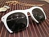 Женские очки в оправе прямоугольной формы, цвет белый матовый, душки металл сталь