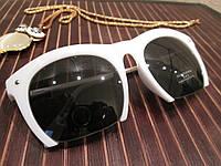 Женские очки в оправе прямоугольной формы, цвет белый матовый, душки металл сталь, фото 1