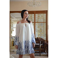 ae24504dae9 Белое платье Guess с голубым узором