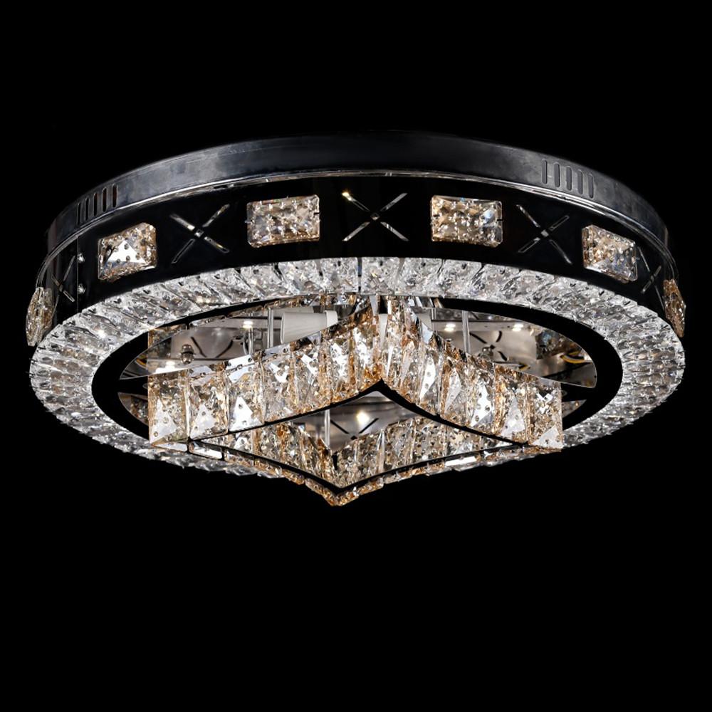 Светодиодная LED люстра СветМира с пультом управления VL-2852/500/8+4   (хромированная)