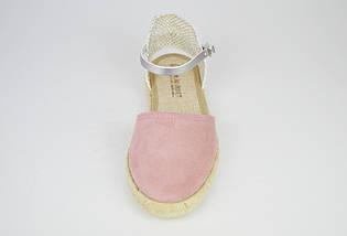 Босоножки замшевые розовые Pilar Monet 24151, фото 3
